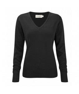 PULL COL V FEMME RUSSELL Coton/Acryl