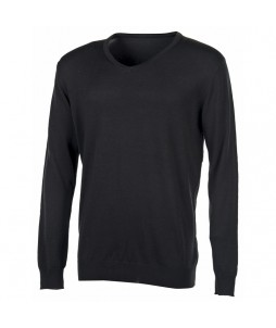 PULL COL V HOMME Coton/Acryl